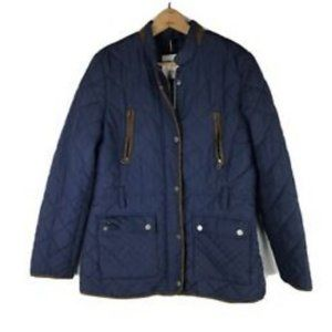 Tommy Hilfiger Jacket Large Womens Blue Quilted